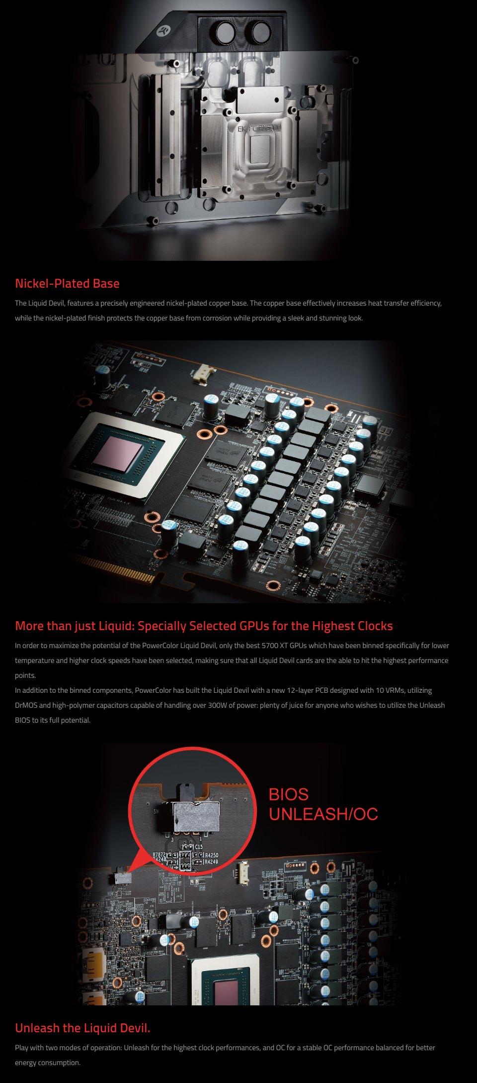 PowerColor Radeon RX 5700 XT Liquid Devil 8GB features 2