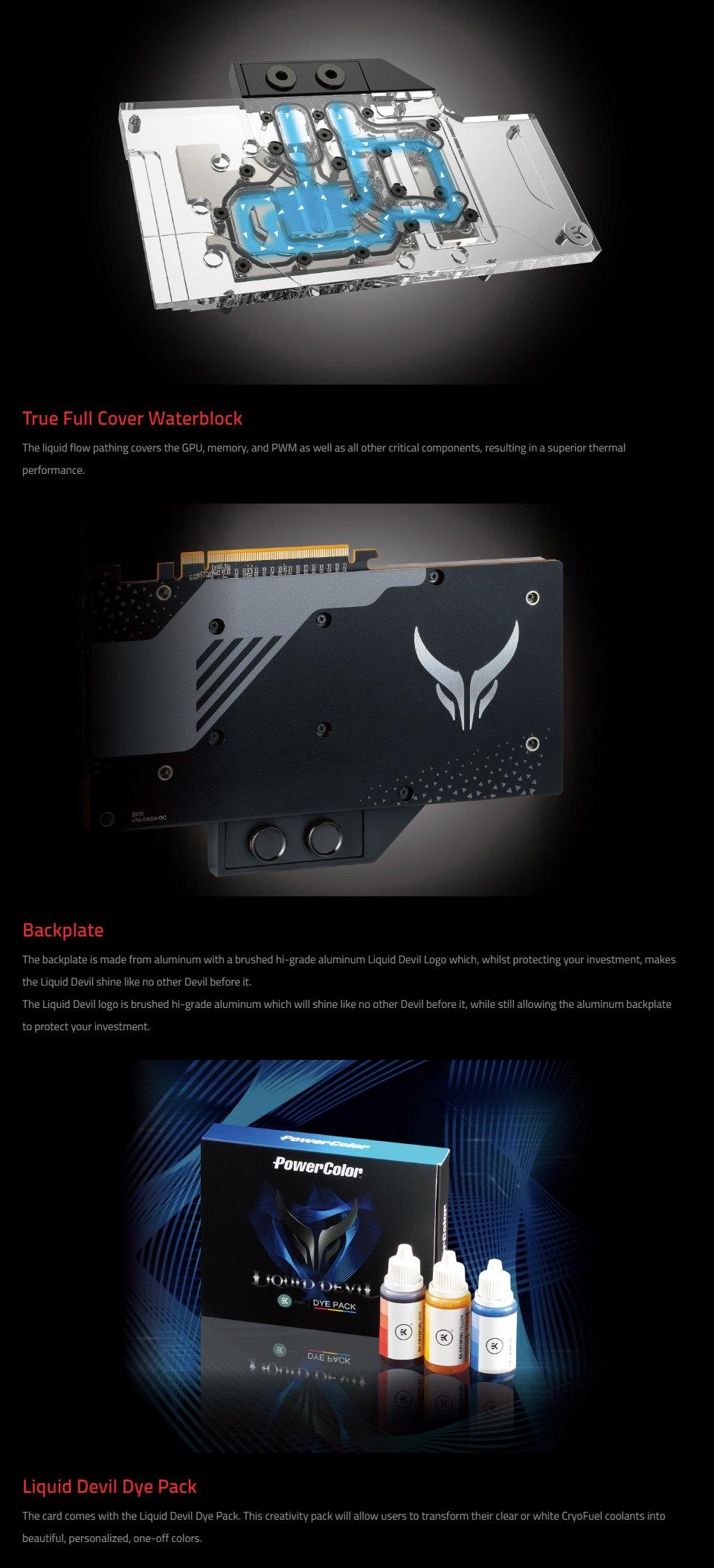 PowerColor Radeon RX 5700 XT Liquid Devil 8GB features 3