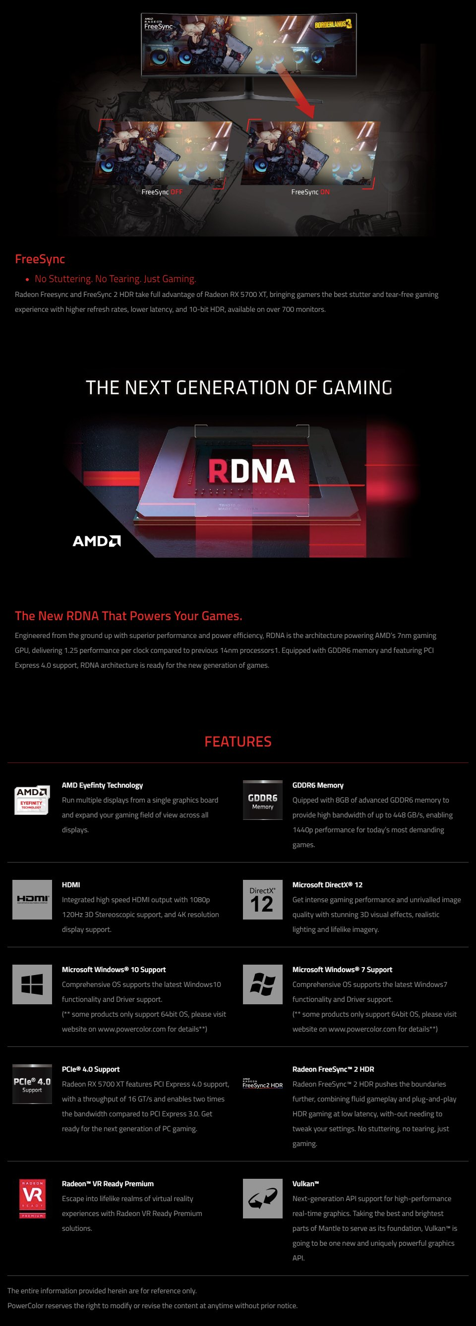PowerColor Radeon RX 5700 XT Liquid Devil 8GB features 5