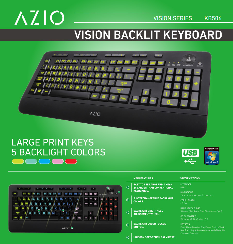 1b1179c692b 2x Larger than conventional keyboards; 5 Interchangeable back light colours  with adjustable brightness; Dedicated internet, multimedia, and calculator  hot ...