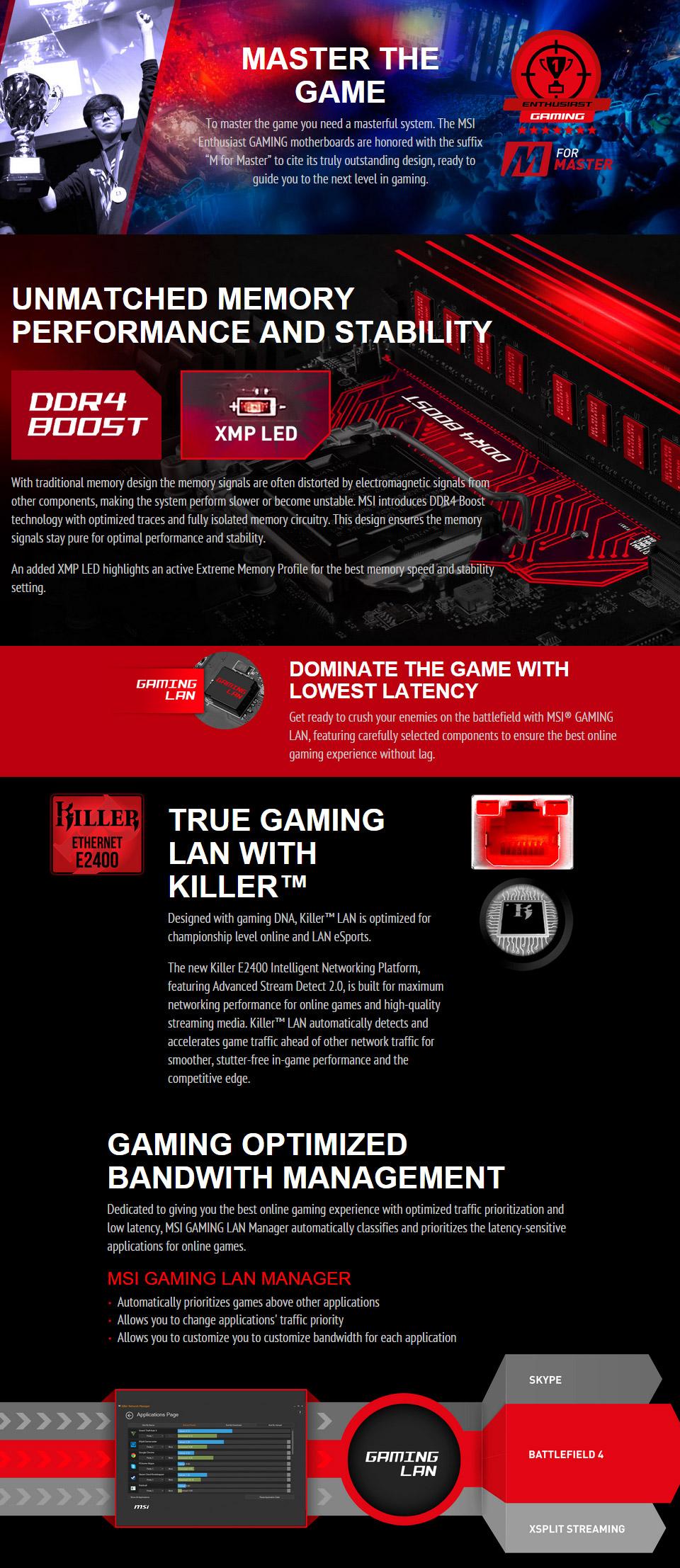 Drivers: MSI B150 Gaming M3 Killer LAN
