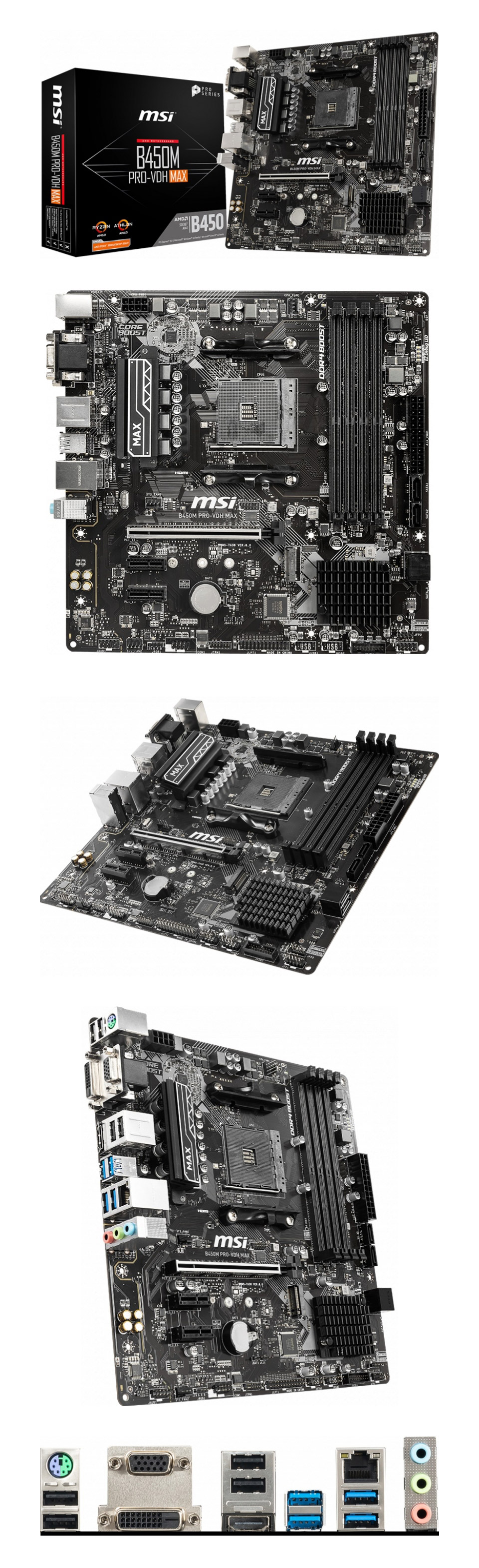 MSI B450M Pro-VDH Max Motherboard product