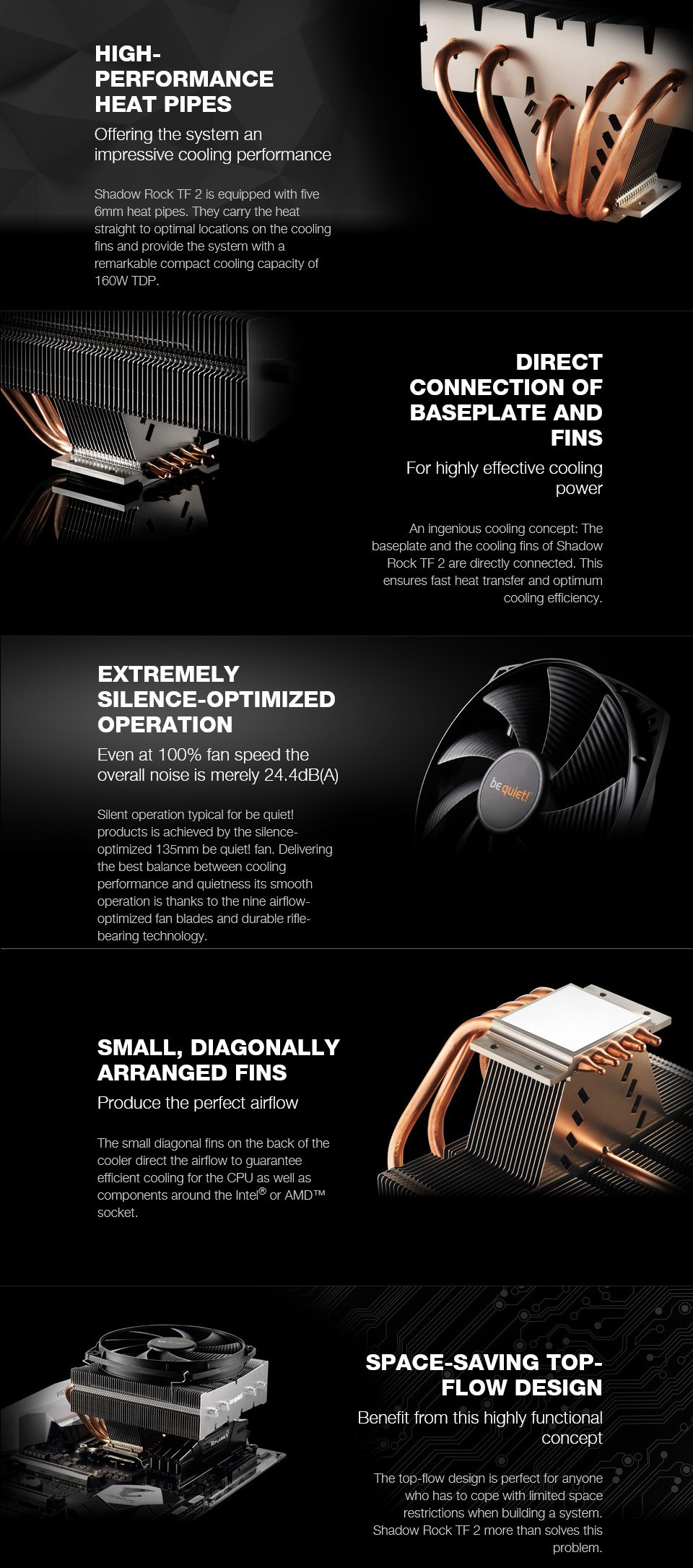 be quiet! Shadow Rock TF 2 CPU Cooler features