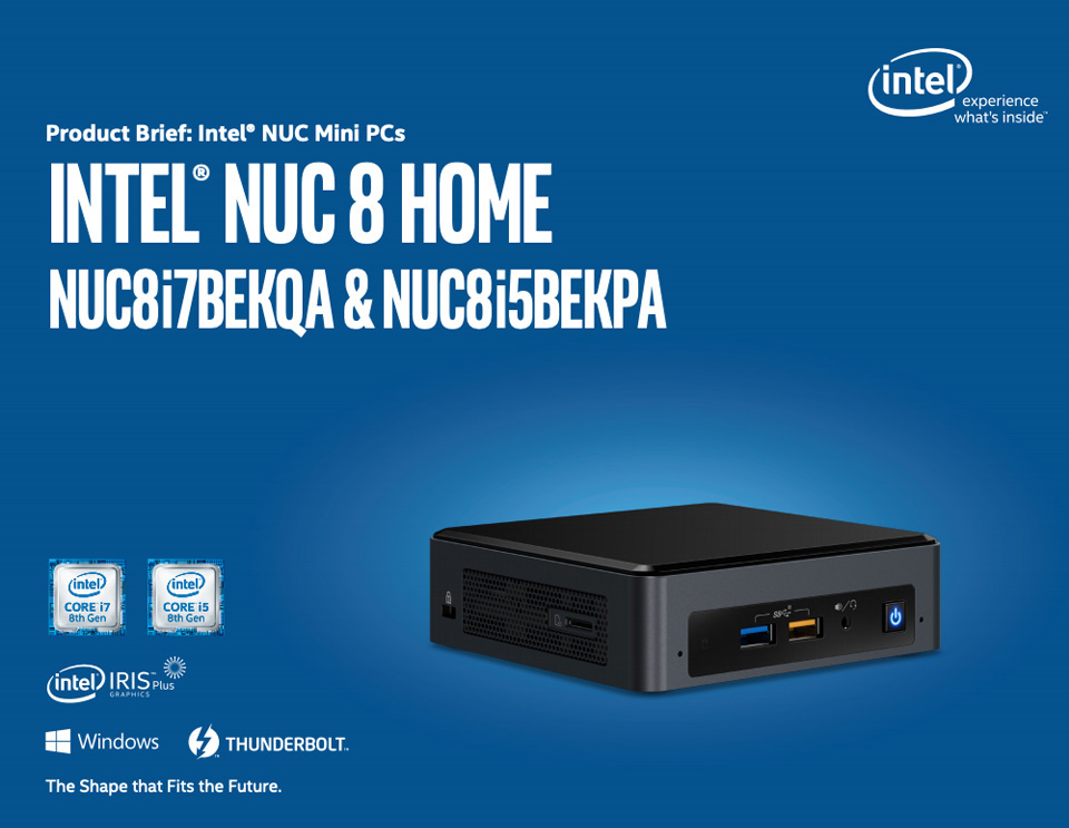 Intel BOXNUC8I7BEKQA4 8th Gen Core i7 NUC Mini PC features
