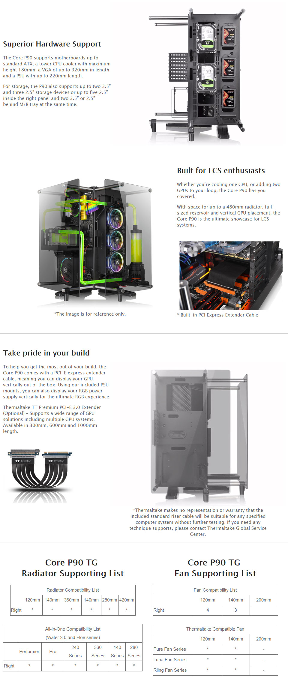 Thermaltake Core P90 Dual Chambered Temper Glass Chassis Ca 1j8 Tempered From Awesome Gpus To Intricate Lcs Systems The Is Designed Show Off Your Hardware At Any Angle