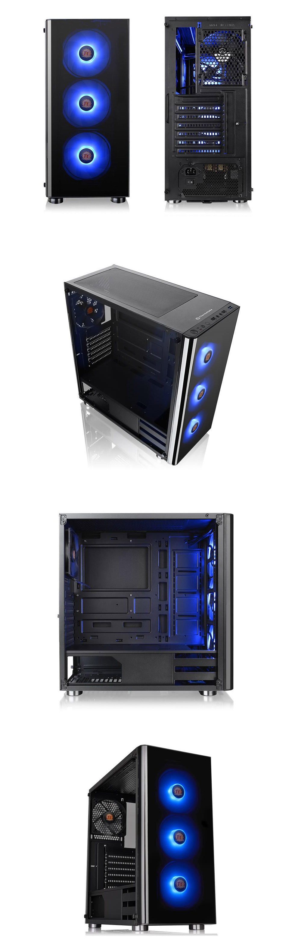 Thermaltake V200 TG RGB Edition Mid Tower Chassis with 500W PSU
