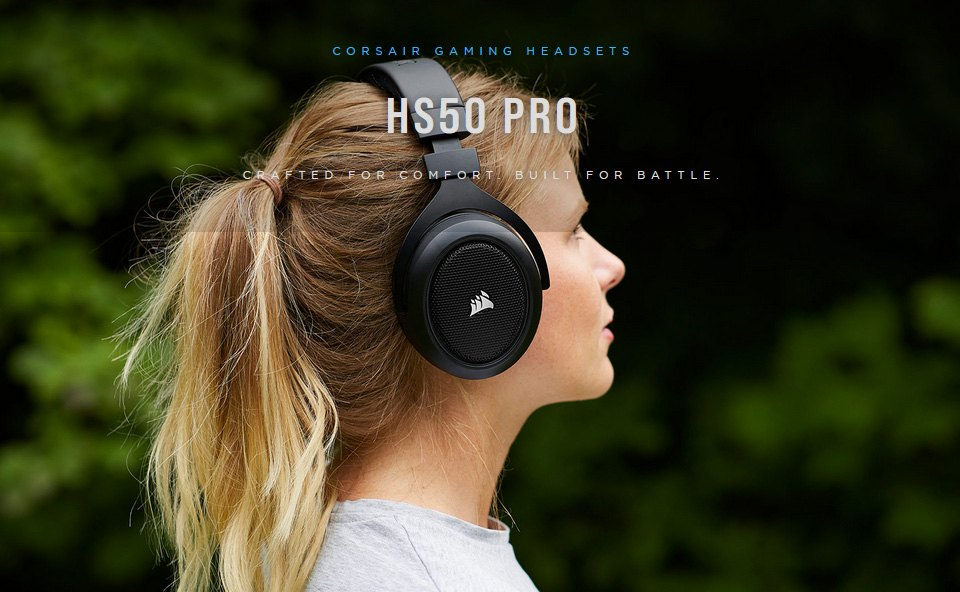 Corsair HS50 PRO Stereo Gaming Headset Carbon features 3