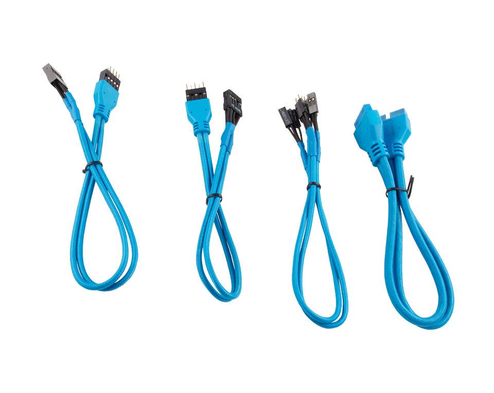 Corsair Premium Sleeved Front Panel Extension Kit 30cm Blue