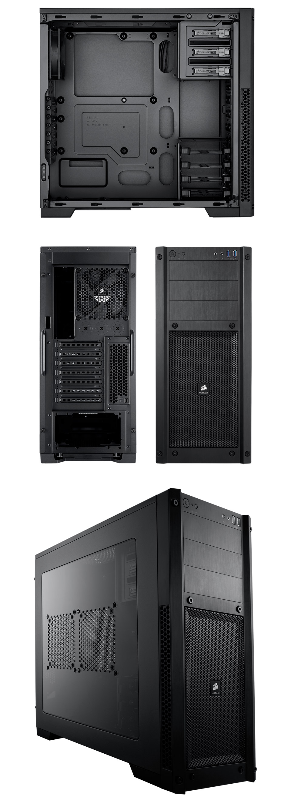 Corsair Carbide 300r Compact Gaming Case With Window Cc 9011017 Ww Windowed Side Panel Try Watching This Video On Youtubecom Or Enable Javascript If It Is Disabled In Your Browser