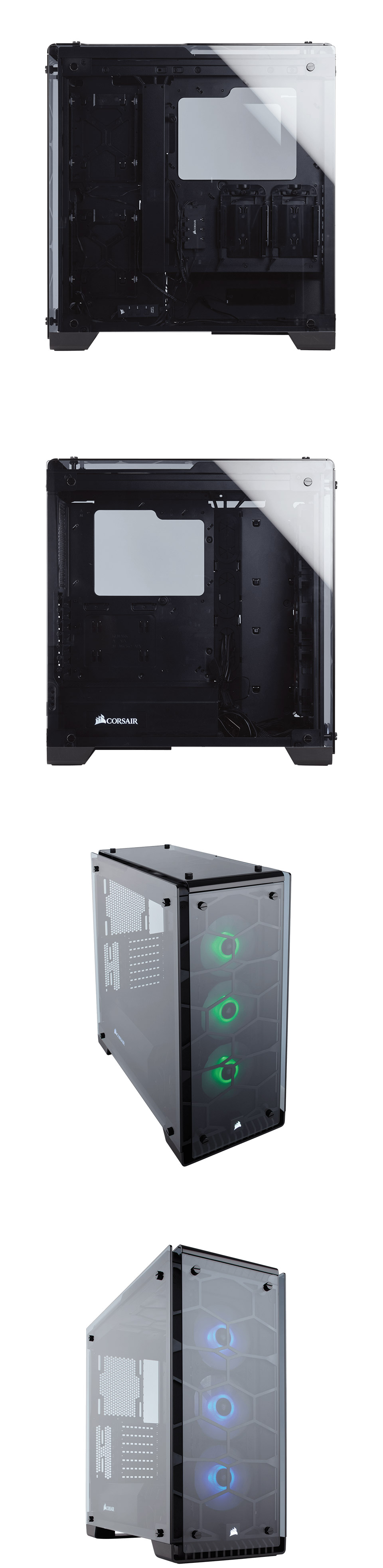 Corsair Crystal 570x Rgb Black Atx Case Cc 9011098 Ww Pc Gear In All The Brings Illumination And Use Of Tempered Glass Pcs To A Whole New Level Offering An Aesthetic That Is Unmatched By