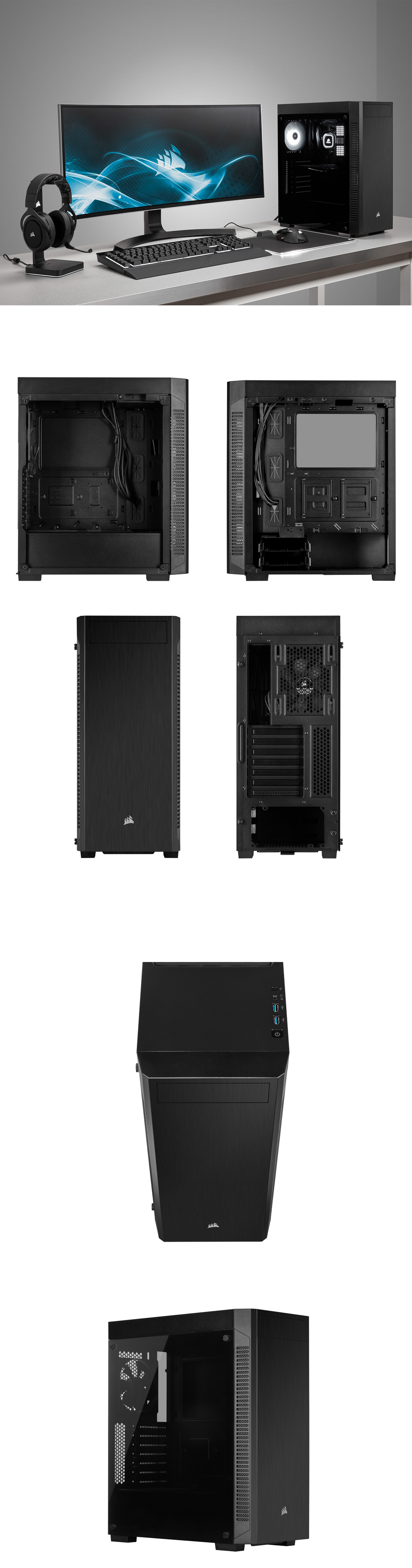Corsair 110R Tempered Glass Case product