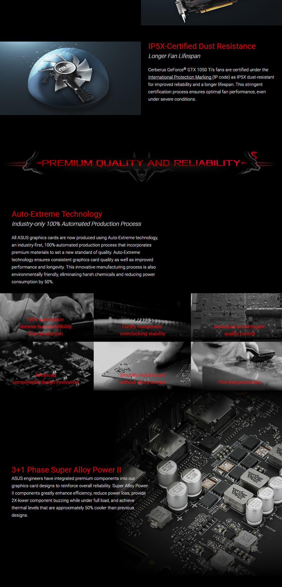 ASUS GeForce GTX 1050 Ti Cerberus OC 4GB [CERBERUS-GTX1050TI