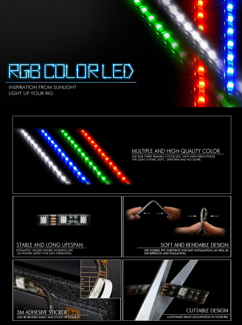 Deepcool Rgb Led Lighting Kit With Remote 2x 300mm Cfan