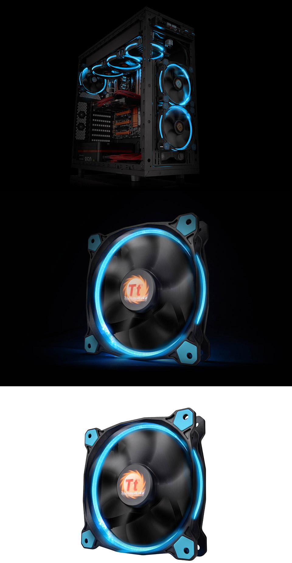 Thermaltake Riing 14 High Static Pressure 140mm Blue Led