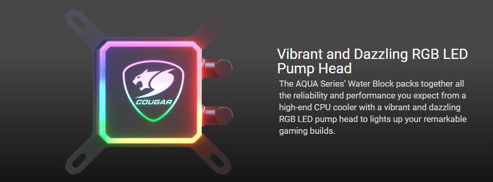 Cougar Aqua 240 ARGB AIO Liquid CPU Cooler features