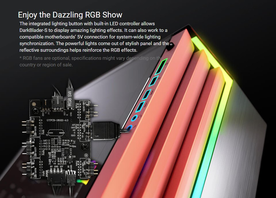 Cougar DarkBlader S RGB TG Full Tower Case Black features 2
