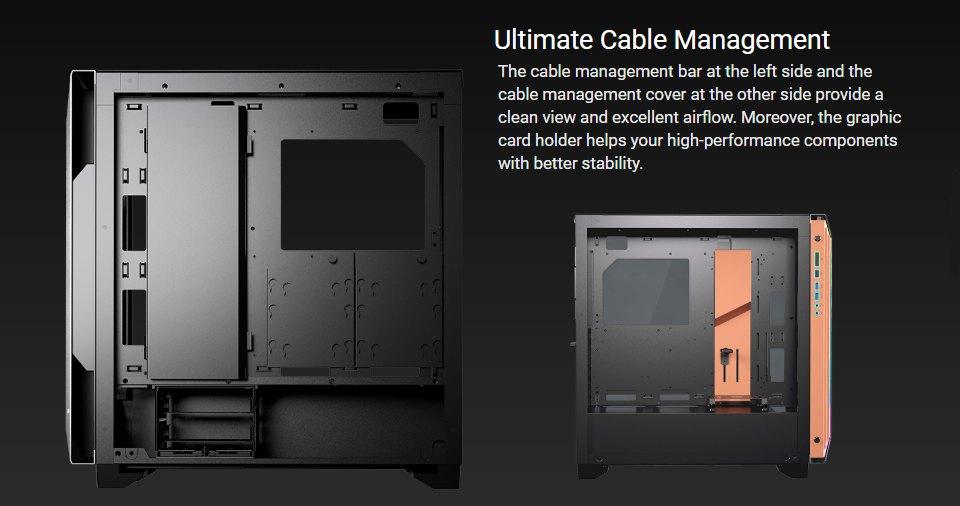 Cougar DarkBlader S RGB TG Full Tower Case Black features 4
