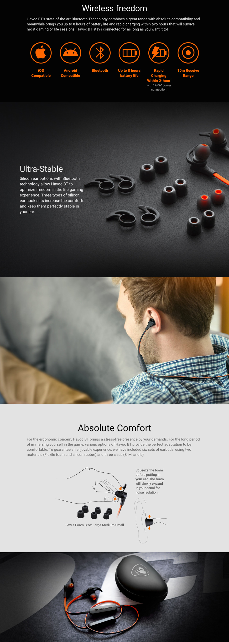 Cougar Havoc Bluetooth Gaming Headset features 2