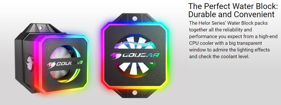 Cougar Helor 360 ARGB AIO Liquid CPU Cooler features