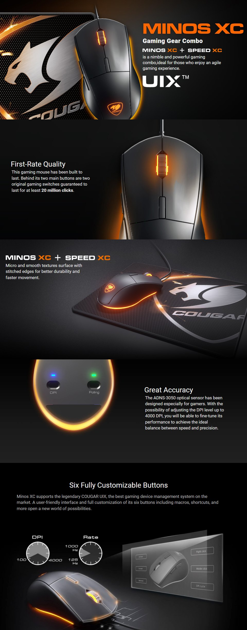 Courgar Minos XC & Speed XC Bundle features