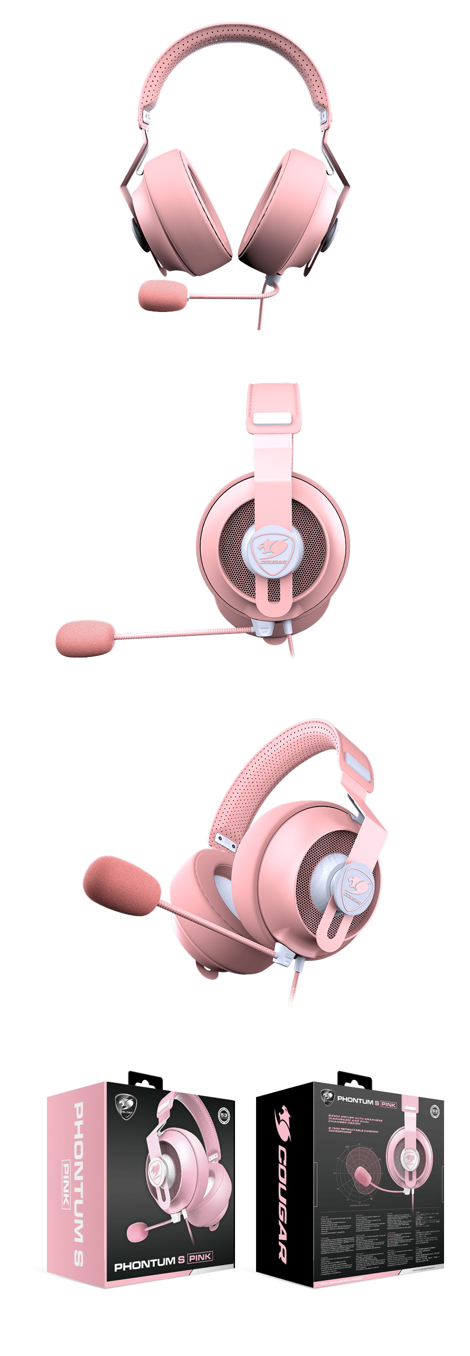 Cougar Phontum S Gaming Headset Pink product