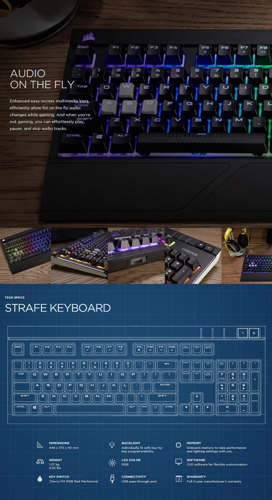 Corsair Gaming Strafe Rgb Mechanical Keyboard Cherry Red Ch 9000227 Mx Led Try Watching This Video On Youtubecom Or Enable Javascript If It Is Disabled In Your Browser