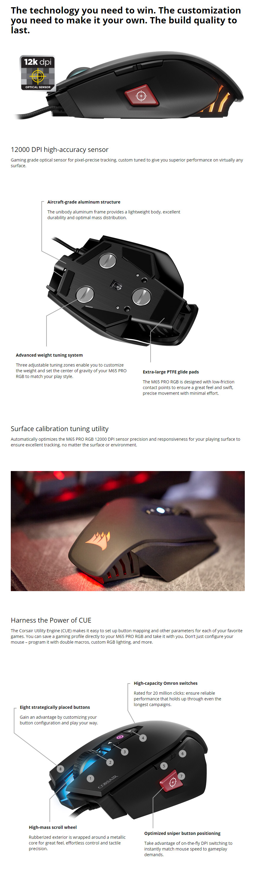 b03d648f66f ... power of CUE for advanced button configuration, macro programming, and  three-zone RGB backlighting customisation. Backed by a 2 year Corsair  warranty.