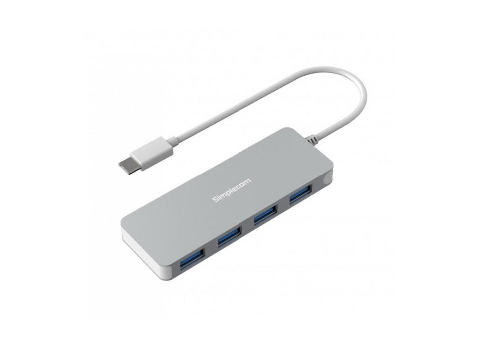 Simplecom CH320 4 Port USB 3.1 Ultra Slim Alum Type-C Hub Silver product