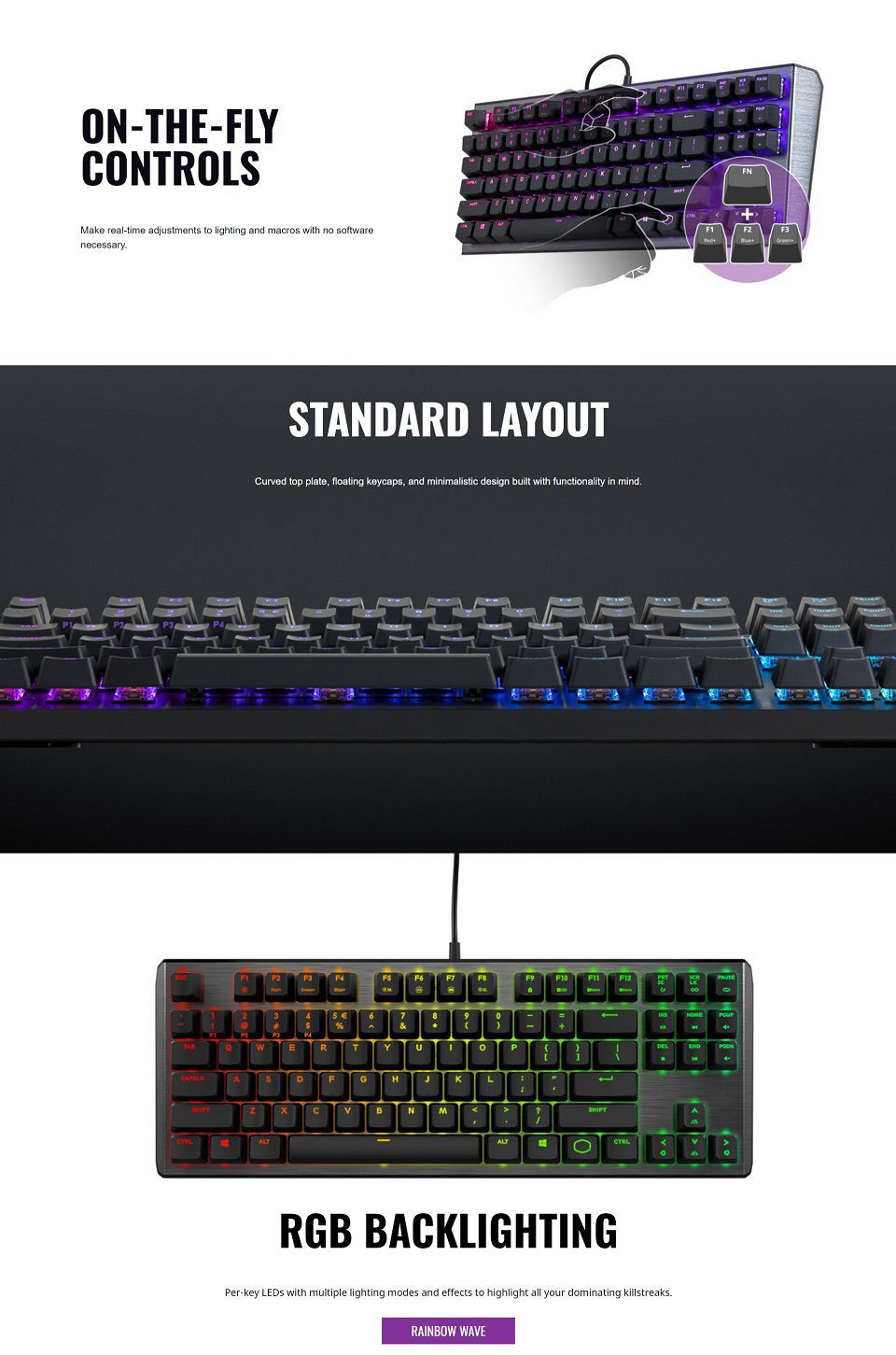 Cooler Master MasterKeys CK550 RGB Red Switch features