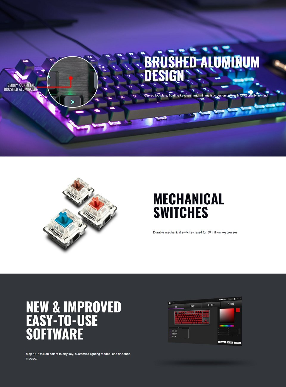 Cooler Master MasterKeys CK550 RGB Red Switch features 2