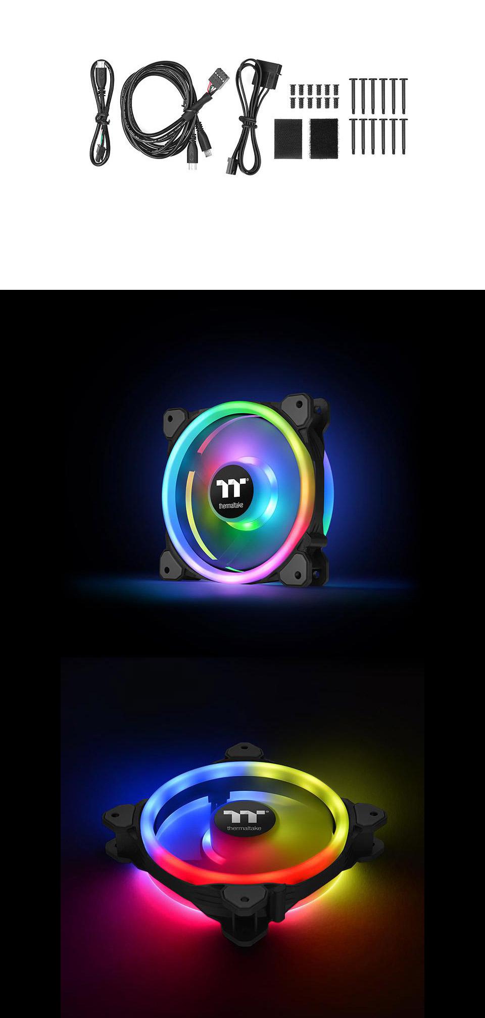 Thermaltake Riing Trio 14 LED RGB Radiator 140mm 3 Fan Pack