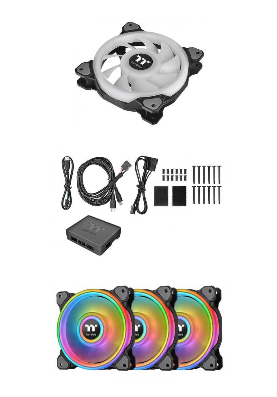 Thermaltake Riing Quad 14 RGB Radiator 140MM Fan 3 Pack Black product