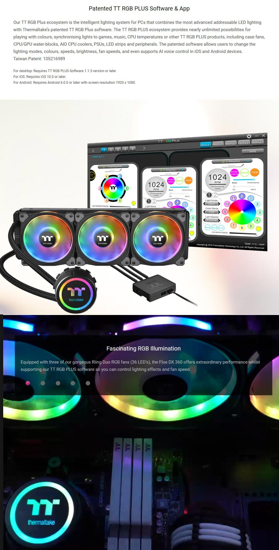 Thermaltake Floe DX RGB 360mm AIO Liquid CPU Cooler features 2