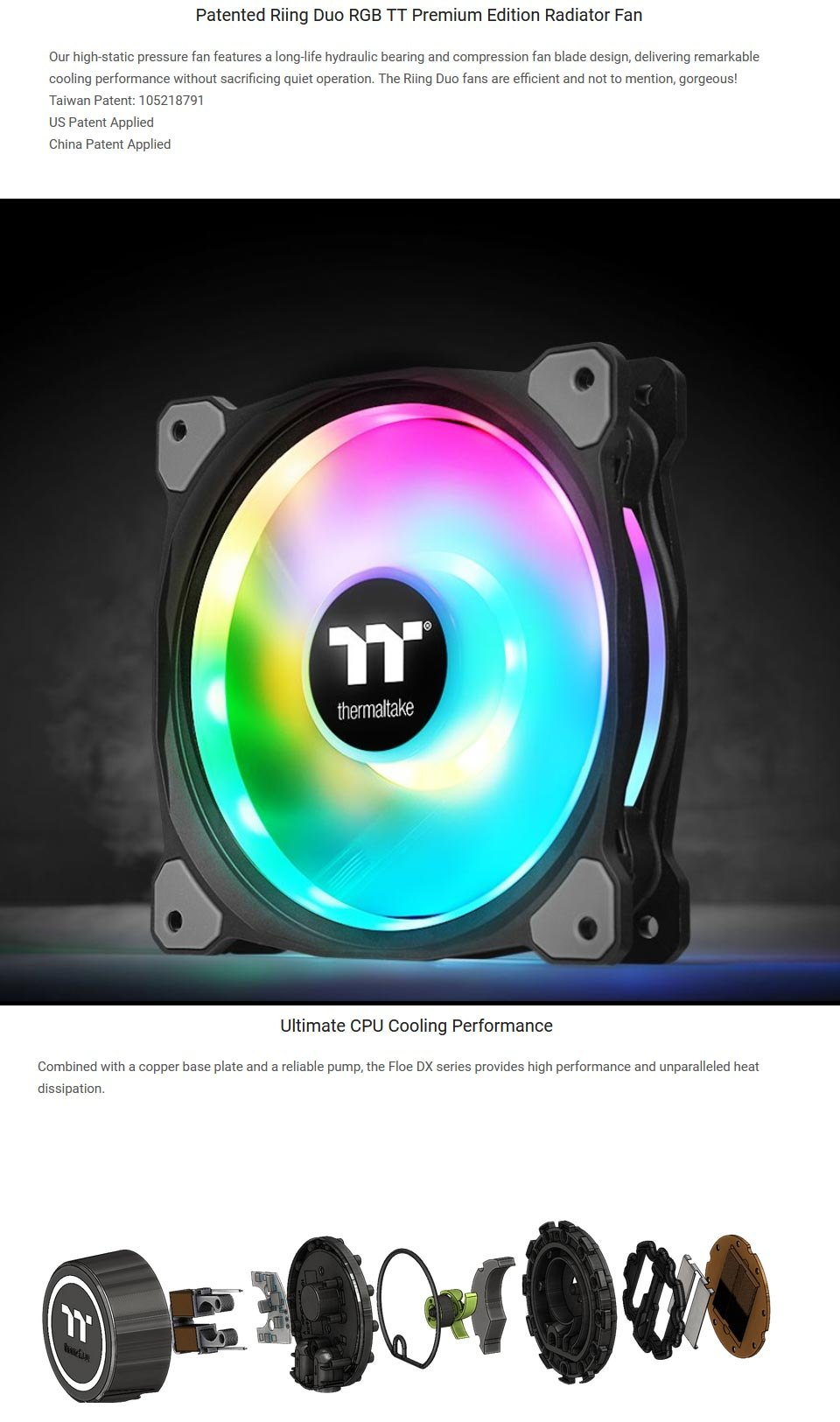Thermaltake Floe DX RGB 360mm AIO Liquid CPU Cooler features 4