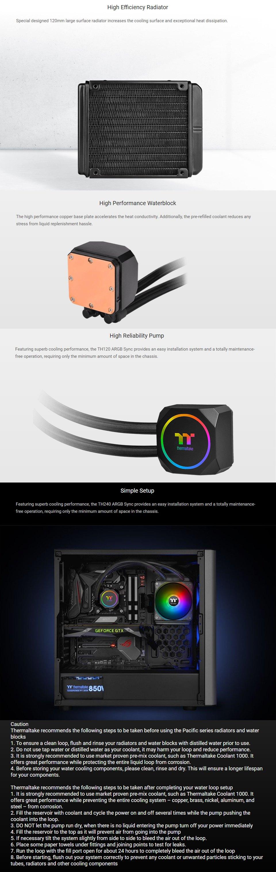 Thermaltake TH120 ARGB 120mm AIO Liquid CPU Cooler features 2