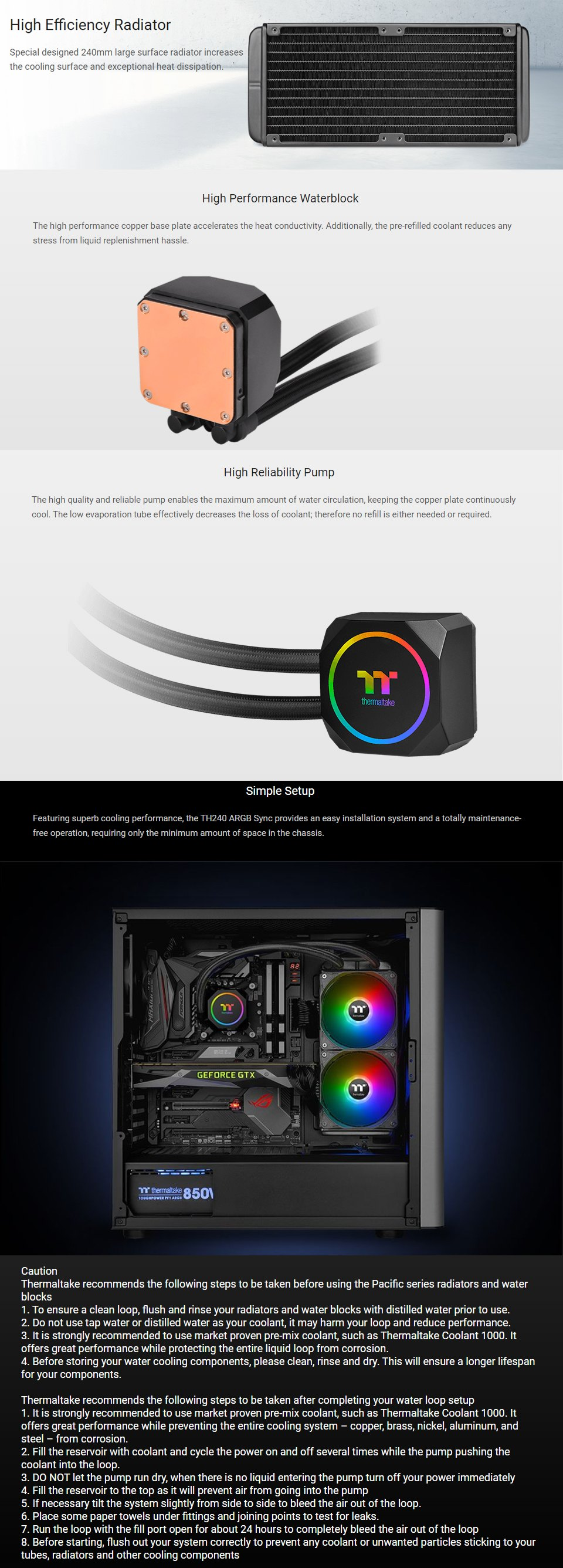 Thermaltake TH240 ARGB 240mm AIO Liquid CPU Cooler features 2