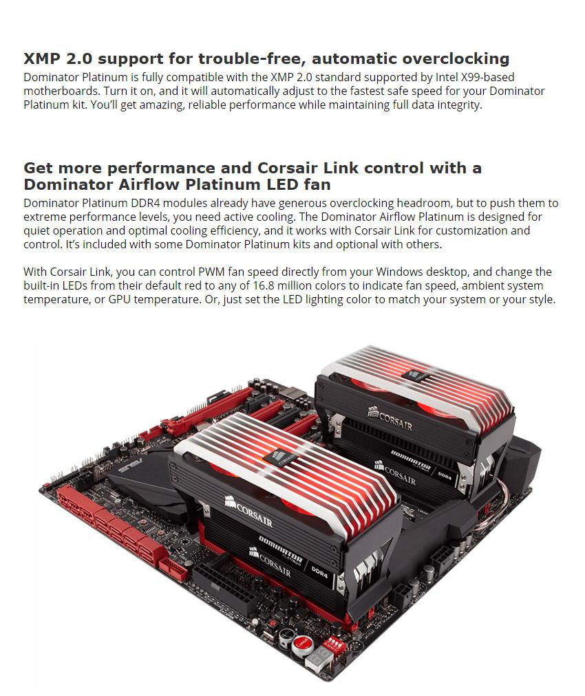 Corsair Dominator Platinum CMD32GX4M4A2400C14 32GB (4x8GB) DDR4