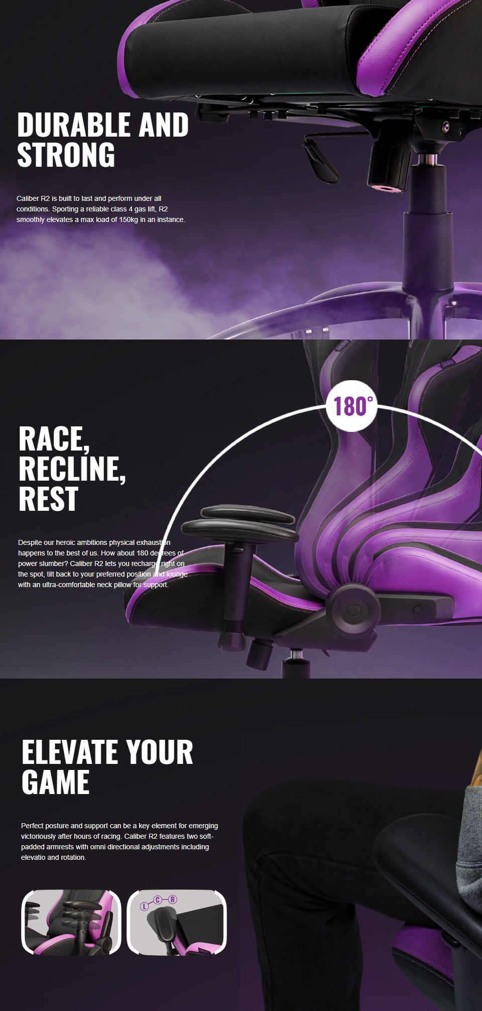 Cooler Master Caliber R2 Gaming Chair features