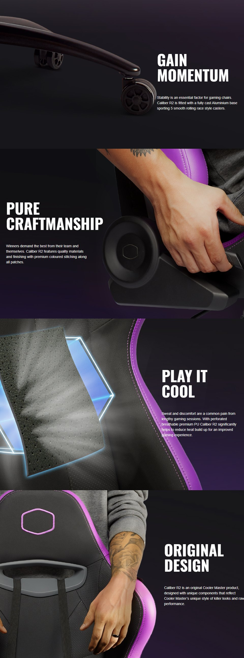 Cooler Master Caliber R2 Gaming Chair features 2