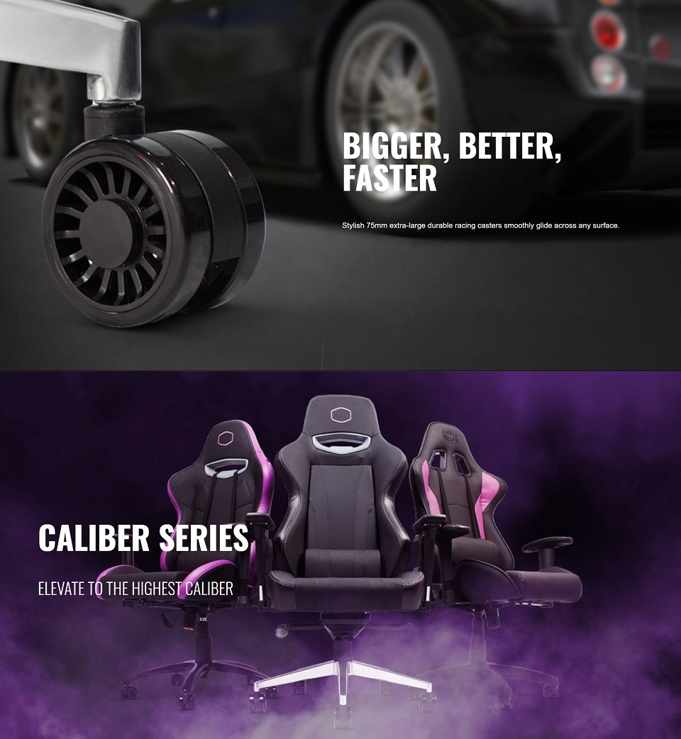 Cooler Master Caliber X1 Gaming Chair features 3