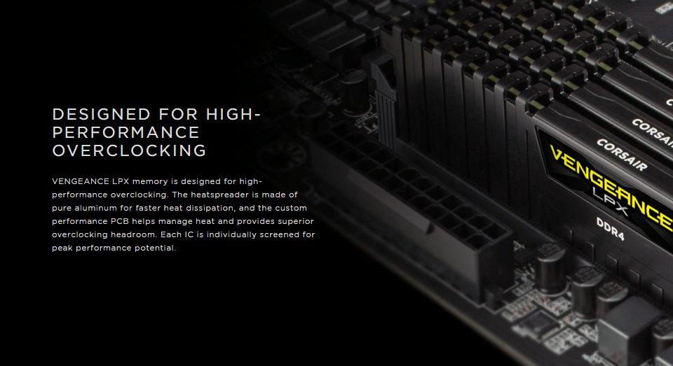 Corsair Vengeance LPX 8GB (1x8GB) 2666MHz CL16 DDR4 features