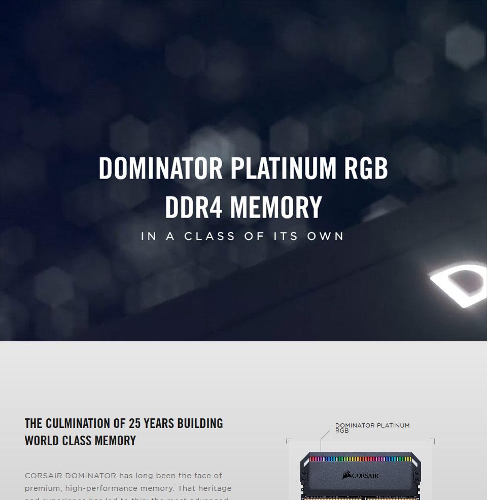 Corsair Dominator Platinum RGB 3600MHz 32GB (4x8GB) DDR4