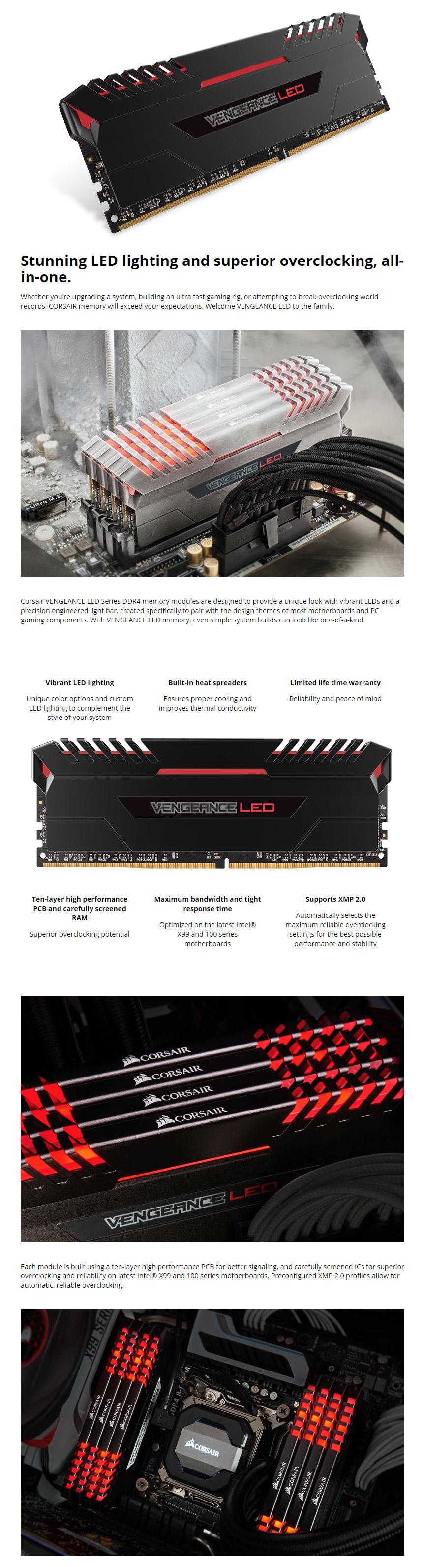 Corsair Cmu16gx4m2c3200c16r Memory Page 4 519 Products Ddr4 Vengeance Led Pc25600 16gb 2x8gb Red