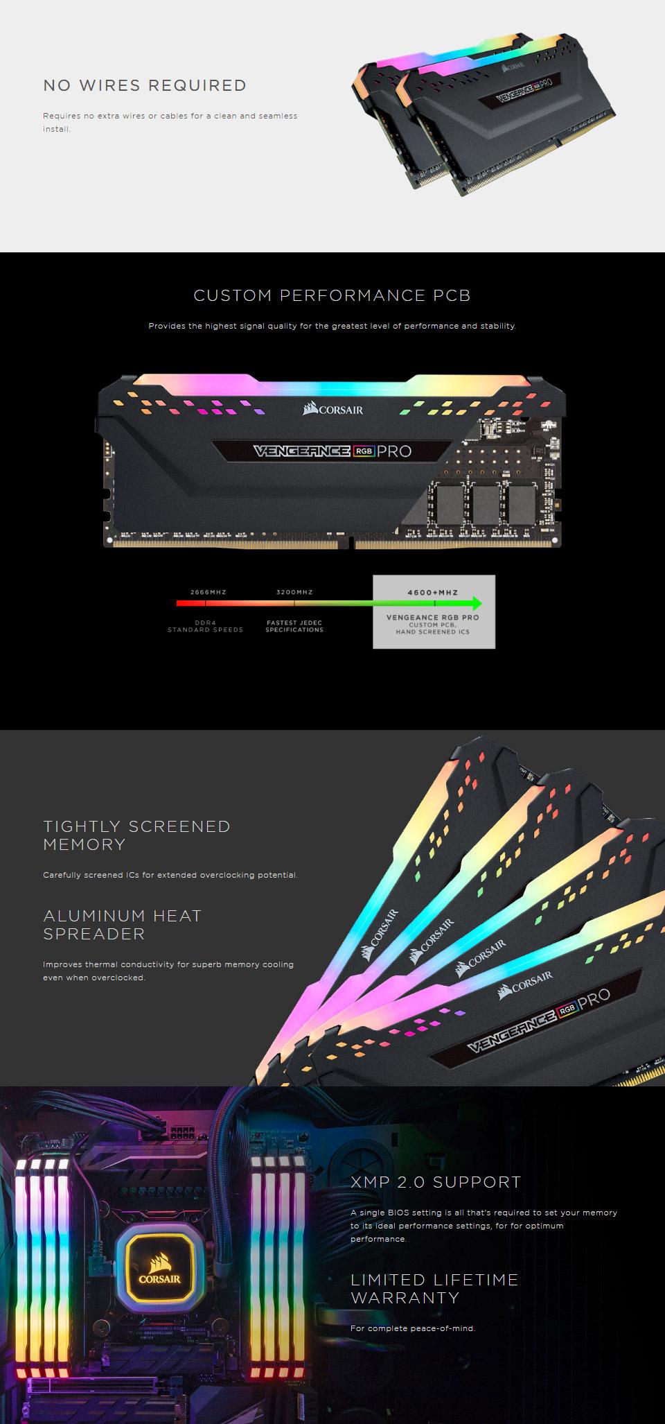 Corsair Vengeance RGB Pro CMW16GX4M2C3200C16 16GB (2x8GB) DDR4