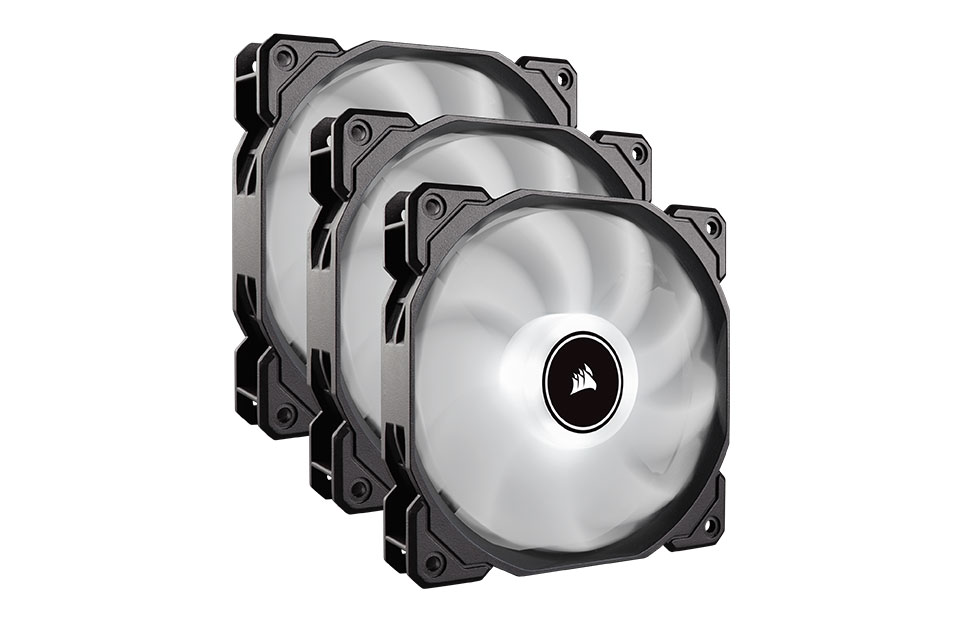 Corsair Air Series AF120 Quiet 120mm Fan White LED 3 Pack