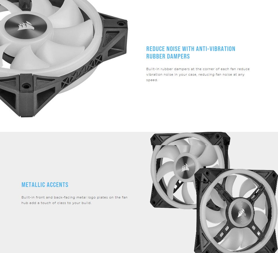 Corsair QL120 ARGB PWM 120mm Fan features 3