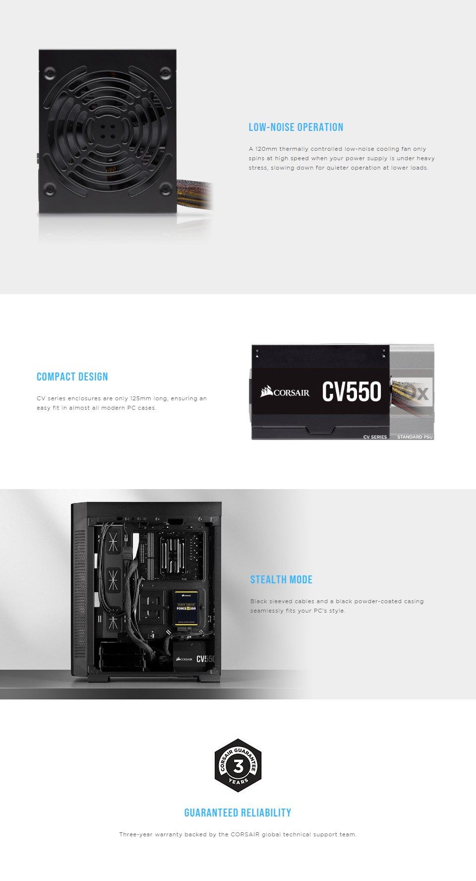 Corsair CV550 550W Power Supply features 2
