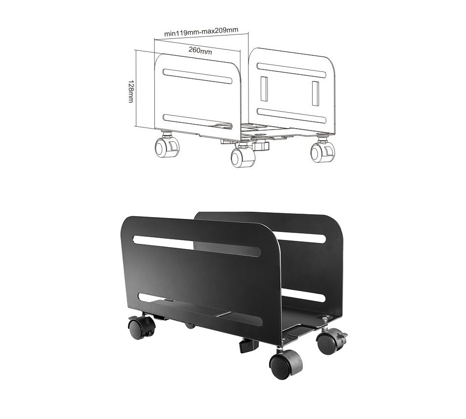Brateck CPB-4 Universal Mobile CPU Stand product
