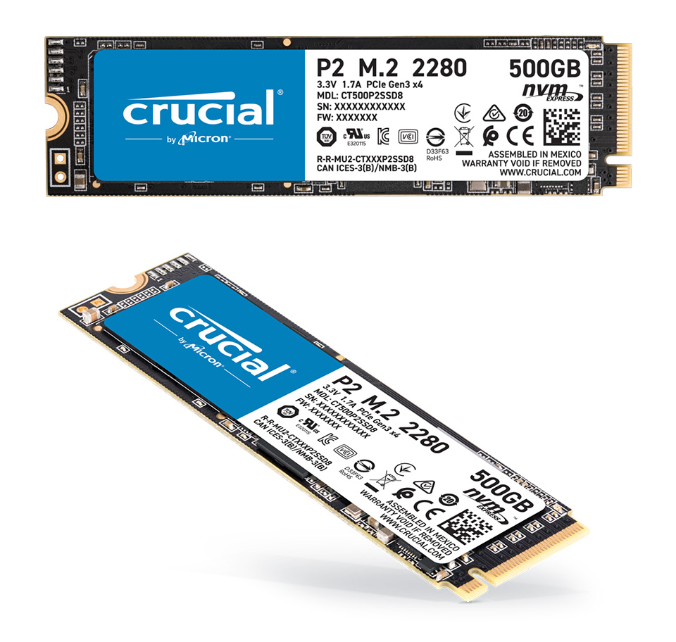 Crucial P2 M.2 NVMe SSD 500GB product