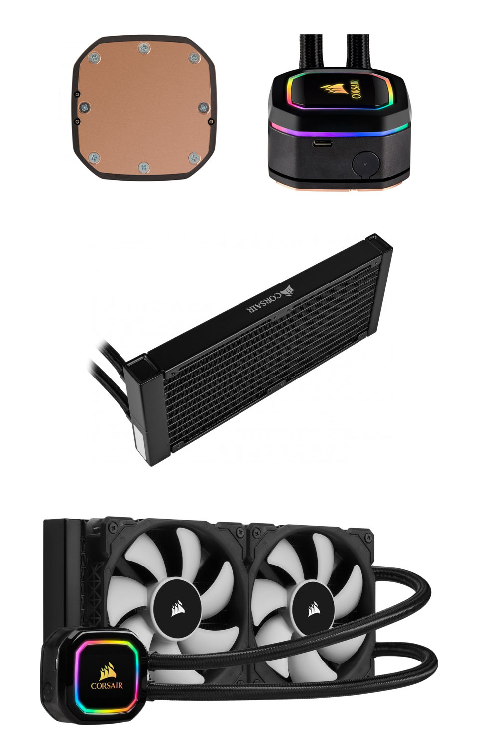 Corsair iCUE H100i RGB Pro XT 240mm AIO CPU Cooler product